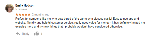 Emily Hodson Google Review